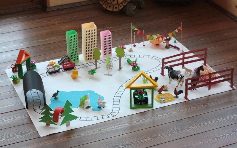 Поделки из картона для детской площадки